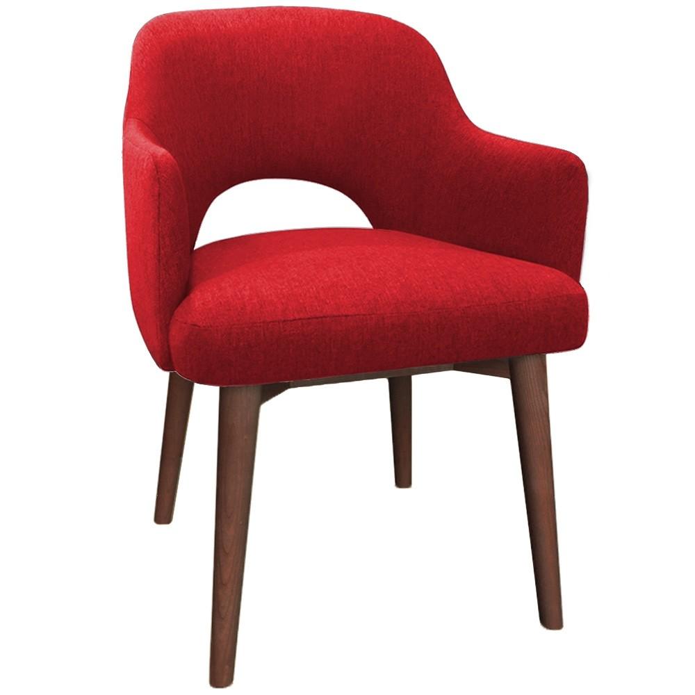 Scandi Tub Chair Walnut Timber Legs Apex