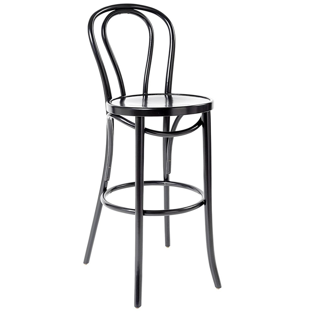 Awesome Genuine No 18 Bentwood Bar Stool With Back By Michael Thonet 75Cm Pabps2019 Chair Design Images Pabps2019Com