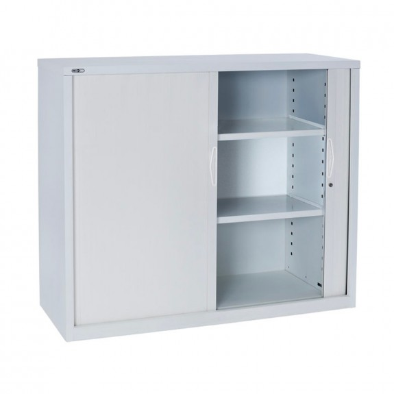 Accent Lockable Office Tambour with Shelves