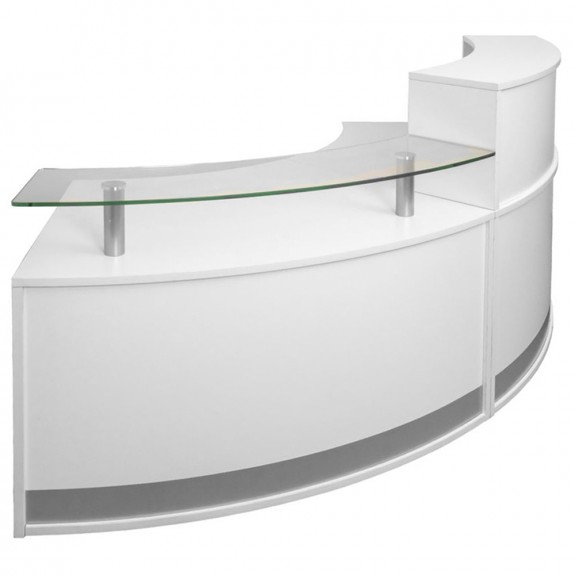 Agility Modular Reception Desk Curved Counter