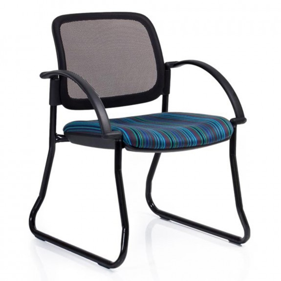 Asher Mesh Waiting Room Chair with Armrests