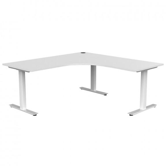 Aspire Office Corner Desk Workstation White Frame
