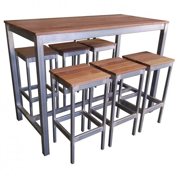 Beer Garden Outdoor Bar Table and Stools