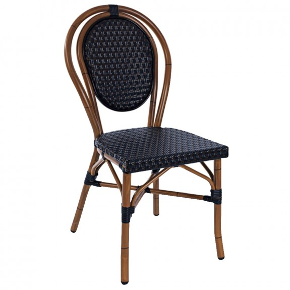 Carolin Rattan Wicker Chair Cafe Restaurant Stacking