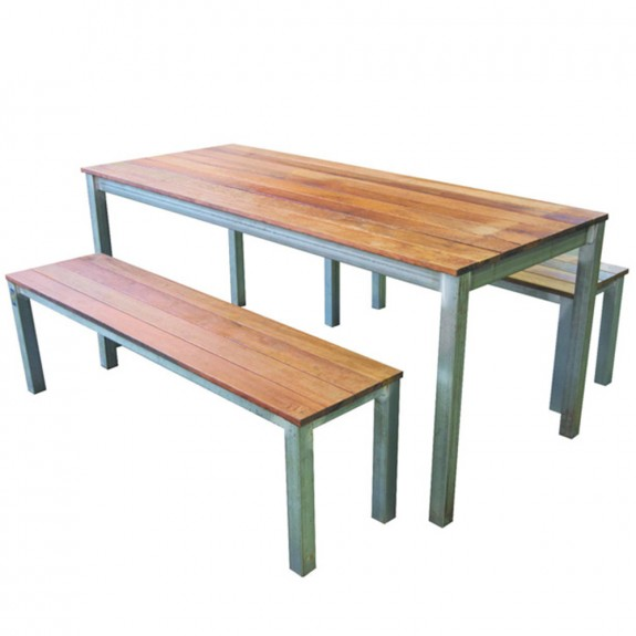 Beer Garden Outdoor Table and Bench Set