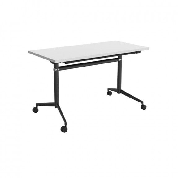 Delta Mobile Flip Top Table Black Frame