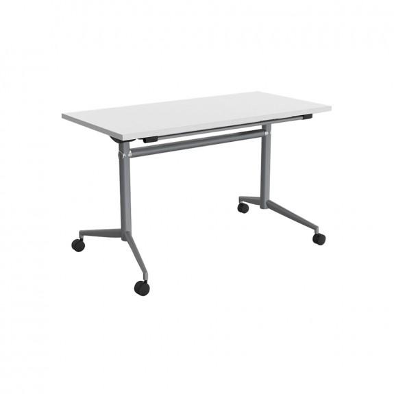Delta Mobile Flip Top Table Silver Frame
