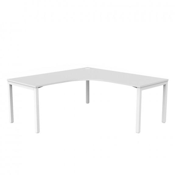 Enterprise 90° Office Corner Desk White Frame