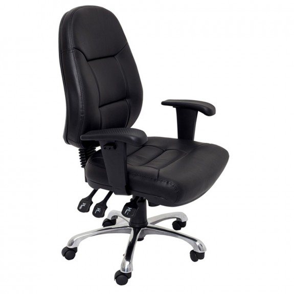 Ergonomic Office Chair Black PU