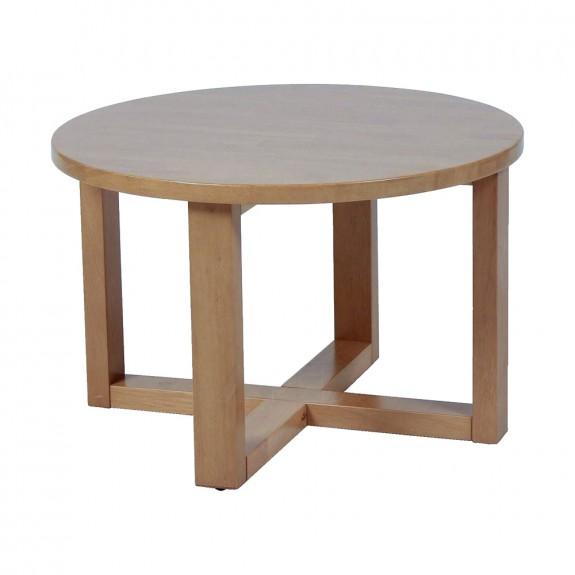 Esta Handmade Round Wood Coffee Table 70cm