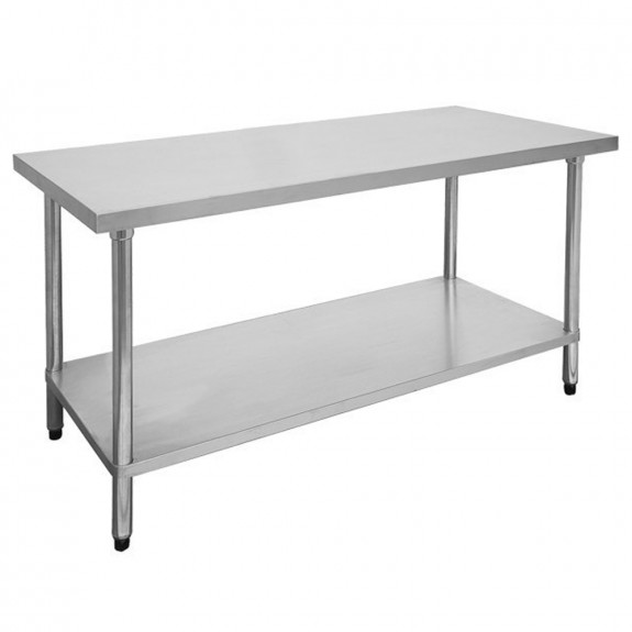 FED Economic 304 Grade Stainless Steel Table with splashback 2100x700x900 2100-7-WBB
