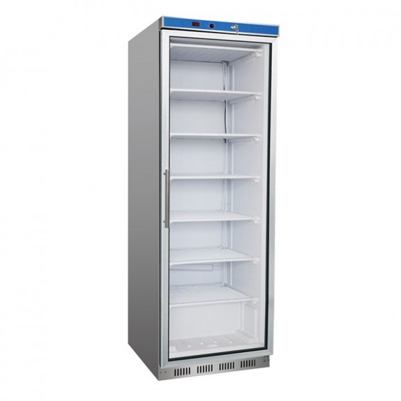 F.E.D HF400G S/S Display Freezer with Glass Door