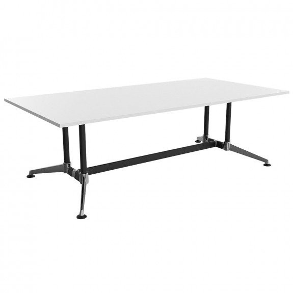 Moda Rectangular Meeting Table Chrome Legs