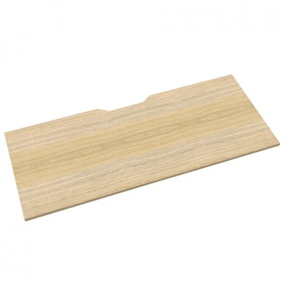 Oak Office Desk Table Top Scalloped Edge