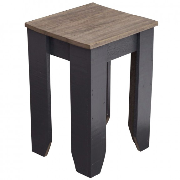 Recycled Wood Cafe Stool Custom Colour