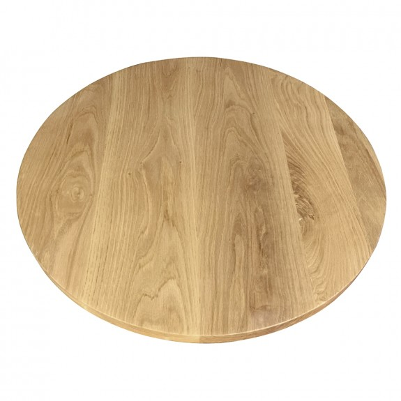 Round American Oak Timber Table Top Solid Wood