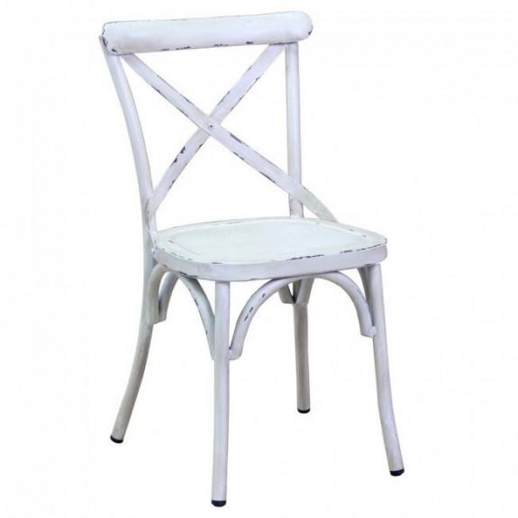 Rustic Cross Back Outdoor Chair Apex