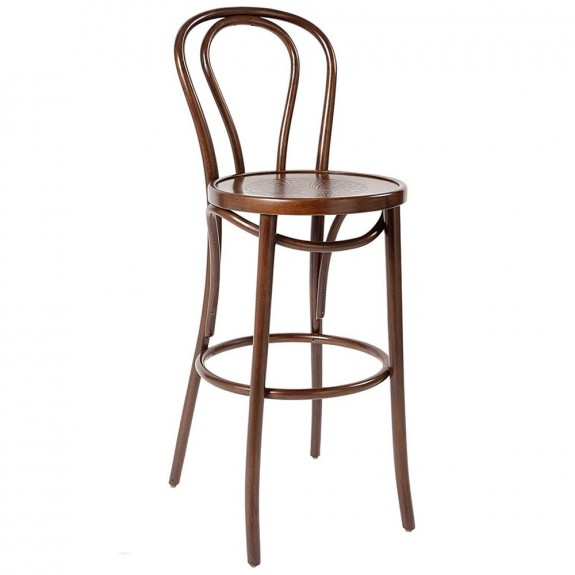 Bentwood Bar Stool with Back Genuine European