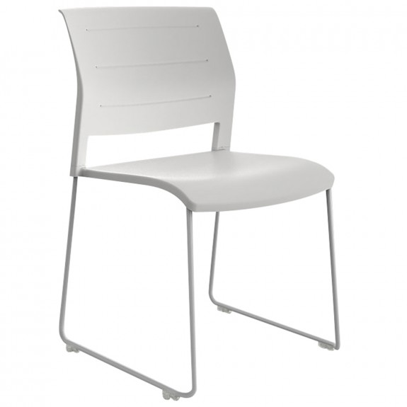 Vibrant Stackable Sled Chair White Legs