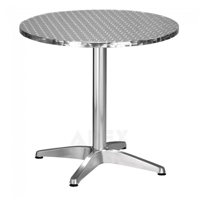 round stainless steel outdoor table top apex