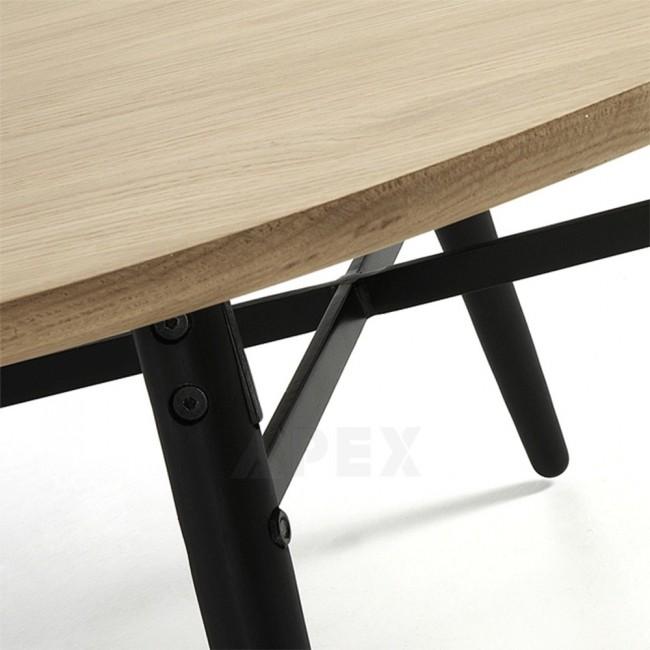 Ava Coffee Table Oak Top Black Legs