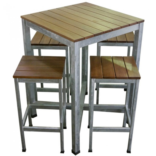 Carita outdoor bar furniture pub table and bar stools for Bar stool table