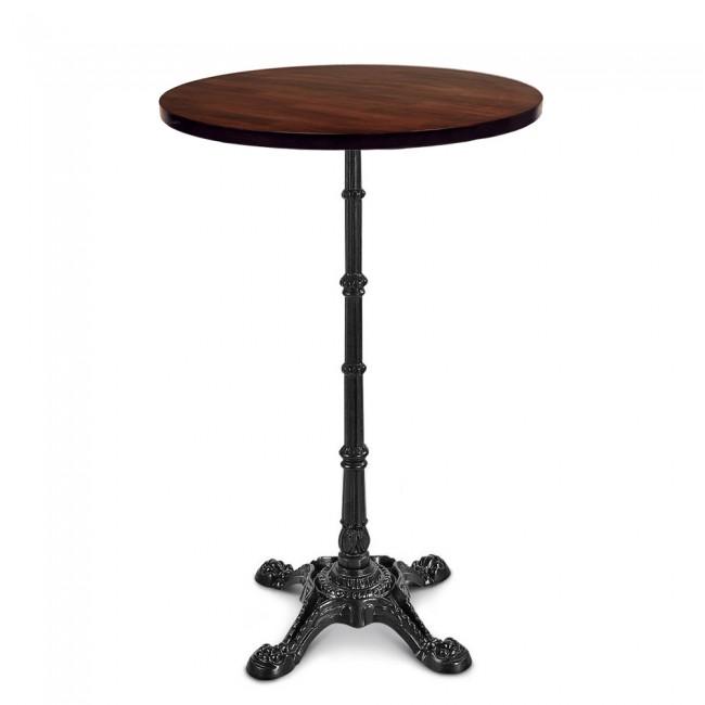 Celestine Vintage Round Bar Table Black Cast Iron Base