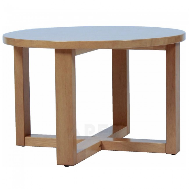 Solid Wood Curved Coffee Table: Zara Solid Wood Round Coffee Table