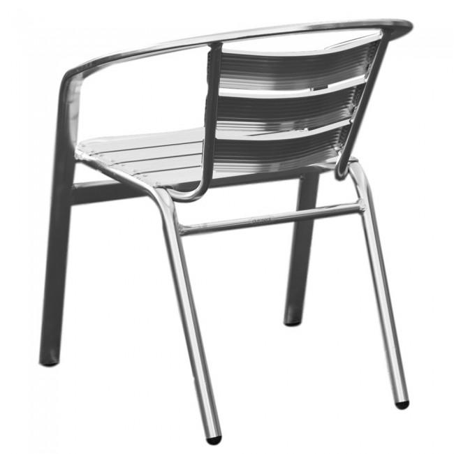 jacobine aluminium outdoor cafe chair stackable apex