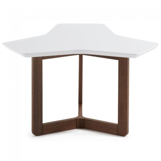 karenlene coffee table white top walnut wood legs apex. Black Bedroom Furniture Sets. Home Design Ideas