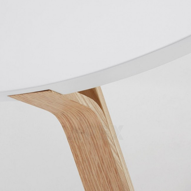 Lucina White Coffee Table Ash Timber Legs Apex