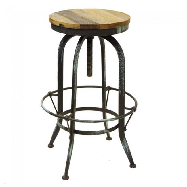 rustic provincial bar stool vintage steel swivel apex. Black Bedroom Furniture Sets. Home Design Ideas