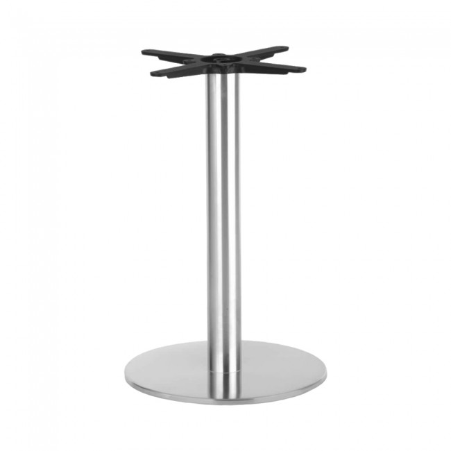 jaquelina stainless steel table base round | apex