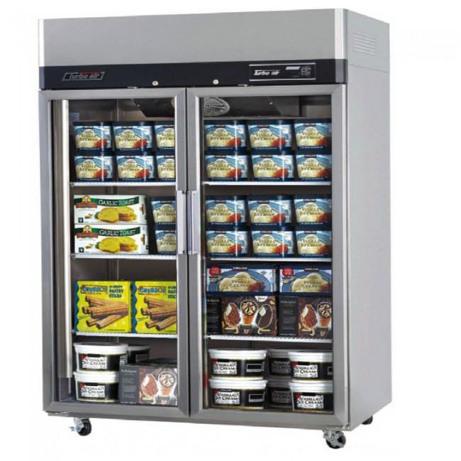 Austune Turbo Air Stainless Steel Upright Freezer 2 Full Glass Doors