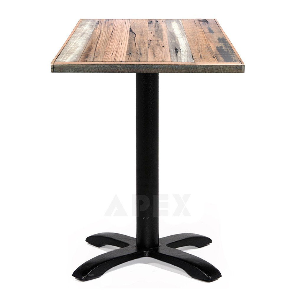 Alvina Recycled Timber Industrial Cafe Table Apex : alvina restaurant table industrial recycled wood 60cm 06 from www.apex.com.au size 1000 x 1000 jpeg 74kB
