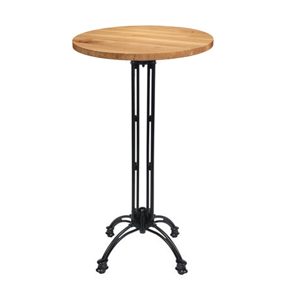 angel round oak french bistro bar table apex. Black Bedroom Furniture Sets. Home Design Ideas