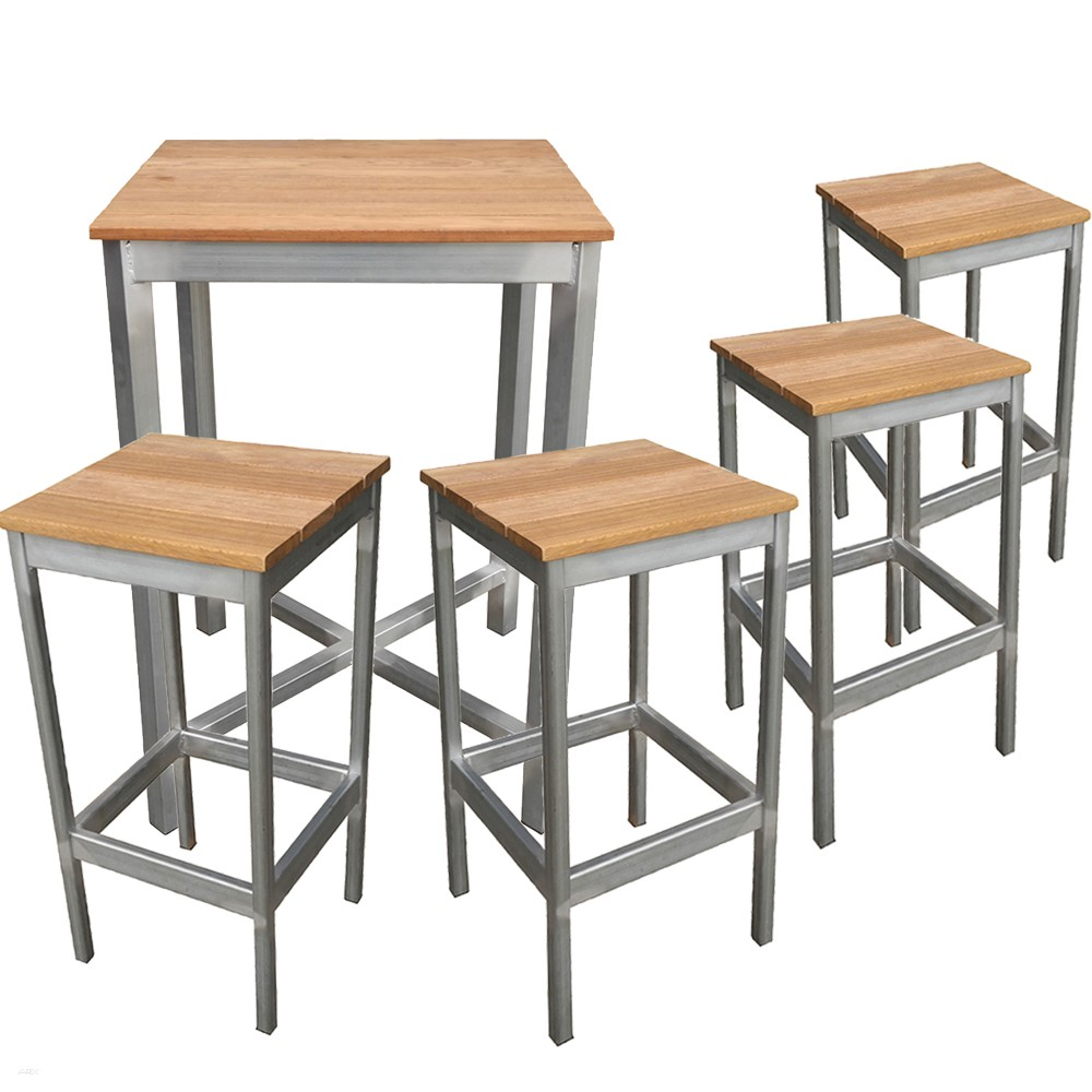 Commercial Outdoor Bar Table And Stools Set Apex