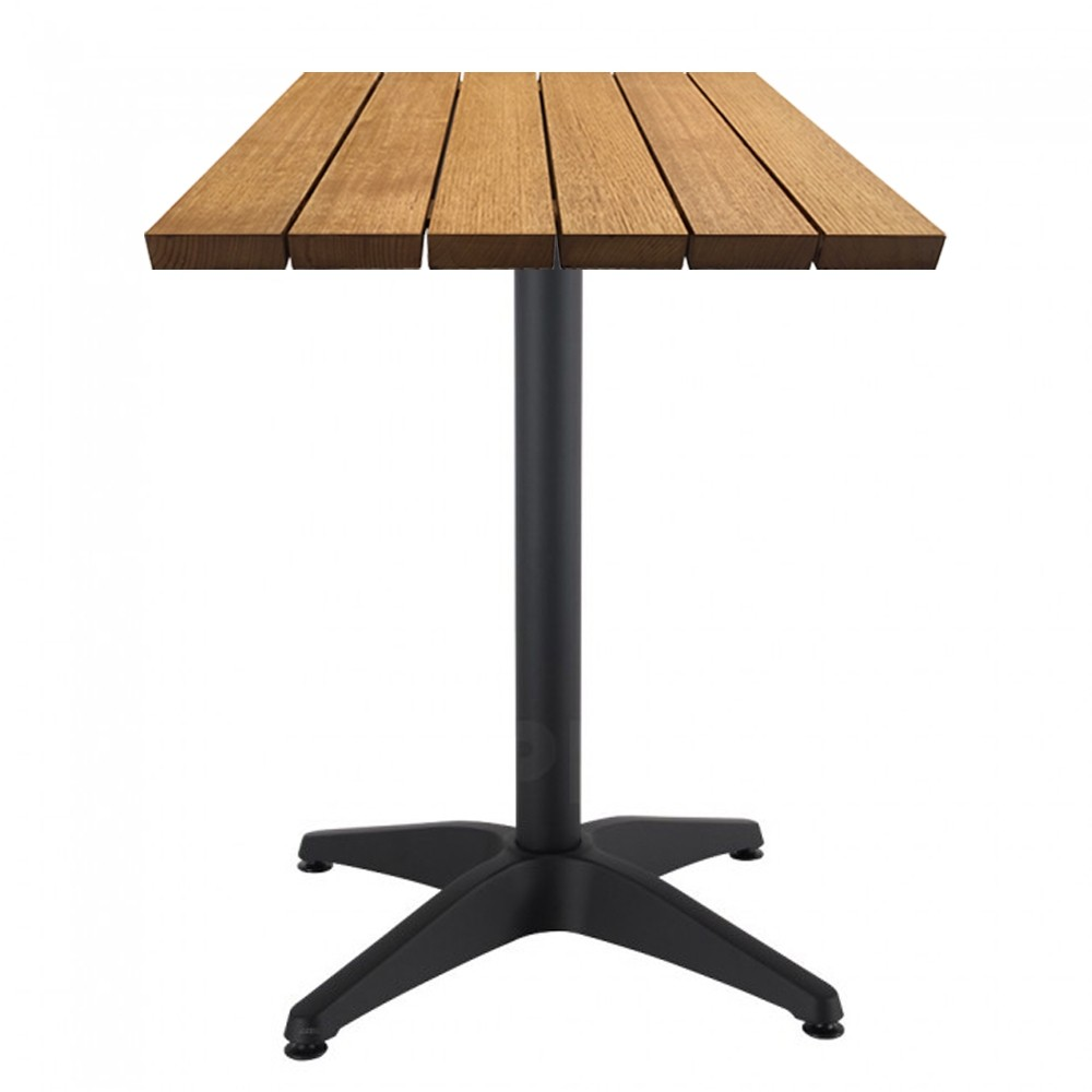 Aida Rustic Vintage Timber Outdoor Cafe Table Apex