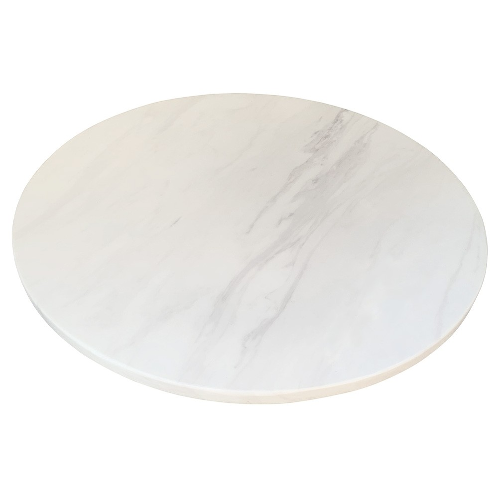 Round Engineered Marble Table Top Apex