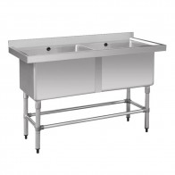 FED Stainless Steel Double Deep Pot Sink 1410-6-DSB