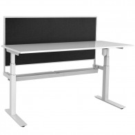 Agility Height Adjustable Office Workstation Desk with Screen