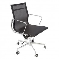 Black Mesh Ergonomic Office Meeting Chair
