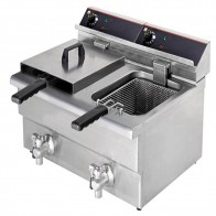 FED 15 Amp Double Benchtop Electric Fryer BEF-172V
