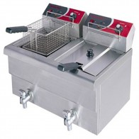 FED 15 Amp Double Benchtop Electric Fryer EF-S7.52/15