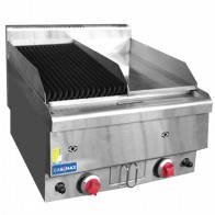 GASMAX Benchtop Combo 1/2 Char & 1/2 Griddle JUS-TRGH60