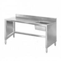 Sink Work bench with splashback 1400mm SSB6-1400