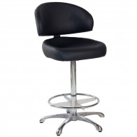 Gale Commercial Gaming Stool with Chrome Foot Ring