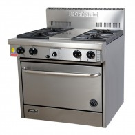 Goldstein 4 Burner Gas Cooktop + Oven PF-4-28