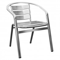 Jacobine Aluminium Outdoor Cafe Chair Stackable