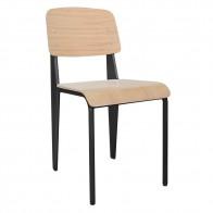 Jean Prouve Standard Chair Replica Oak Seat